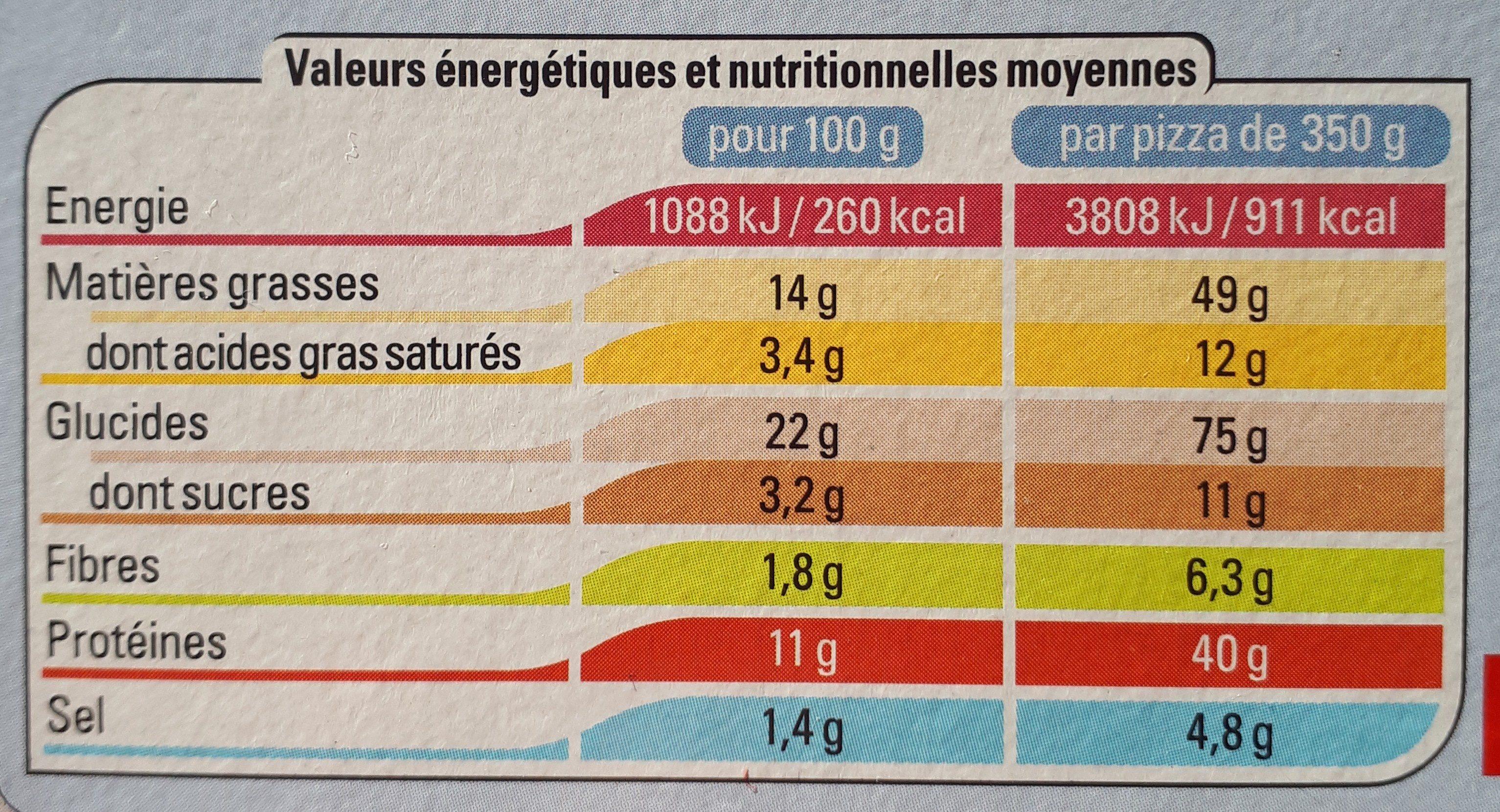 Pizza au thon - Pâte fine - Informations nutritionnelles - fr