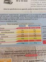 Pizza Mozzarella basilic - Nutrition facts