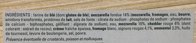 Pizza'n cheese - Ingrédients - fr
