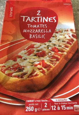 Tartine tomates mozzarella - Product