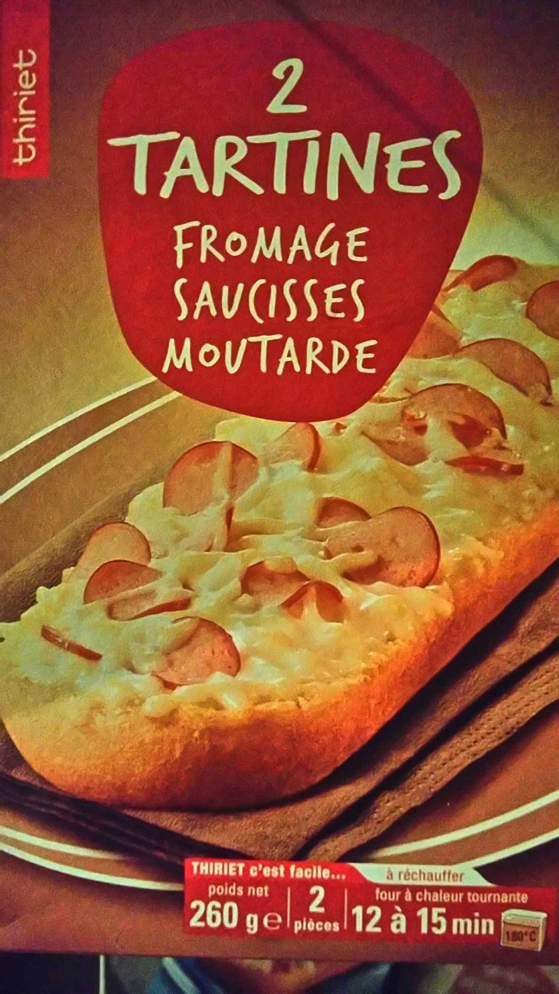 2 Tartines Fromage Saucisses Moutarde - Product