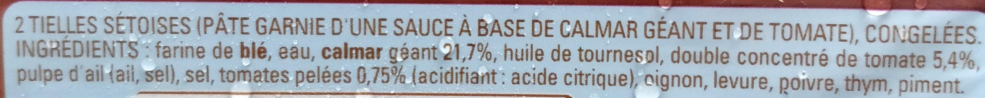 Tielles Sétoises - Ingredients