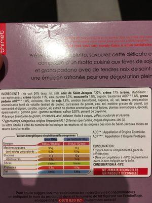 Risotti aux noix de saint-jacques - Ingredients