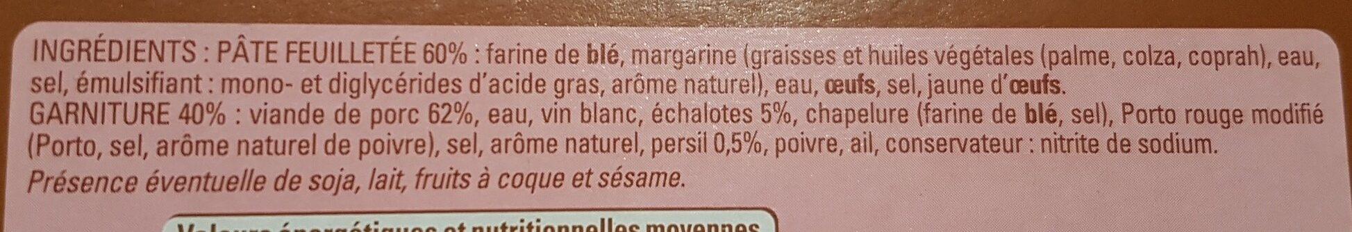 10 feuilletés à la viande - Ingrediënten - fr