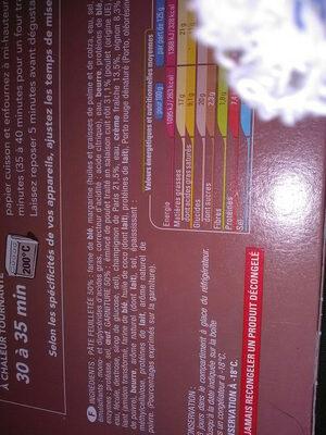 tourte poulet champignons - Product - fr