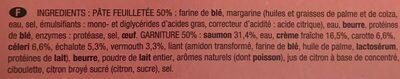 Tourte Saumon Petits Légumes - Ingrédients