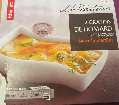 2 Gratins Fruit De Mer Homard Et Saint Jacques Thiriet