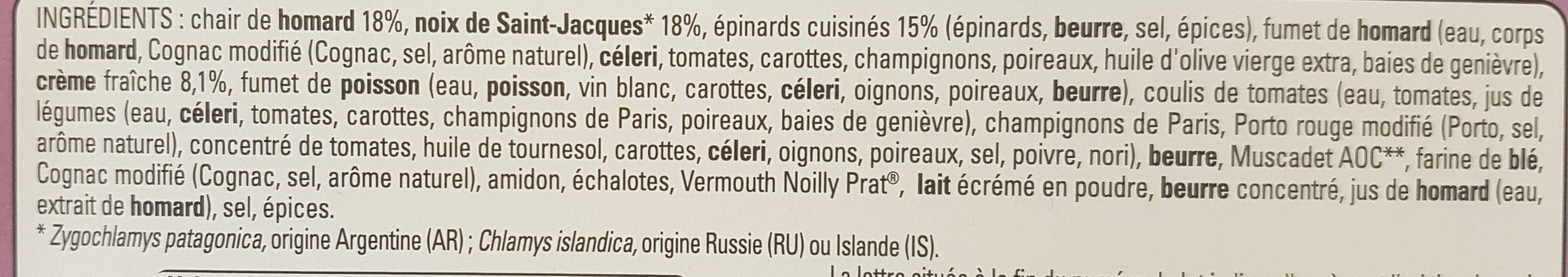 2 gratins fruit de mer homard et saint Jacques - Ingrédients - fr