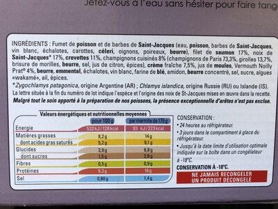 2 Marmites du Pêcheur - Ingrédients - fr