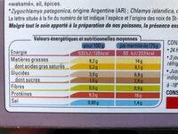 2 Marmites du Pêcheur - Informations nutritionnelles - fr