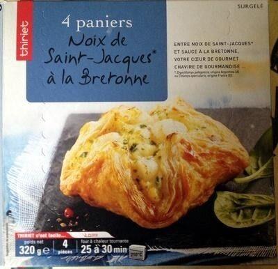 4 paniers Noix de Saint-Jacques* à la Bretonne, Surgelé - Produit - fr