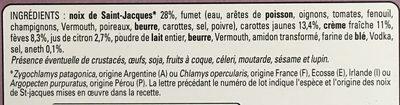 Cassolettes aux st jacques - Ingrediënten