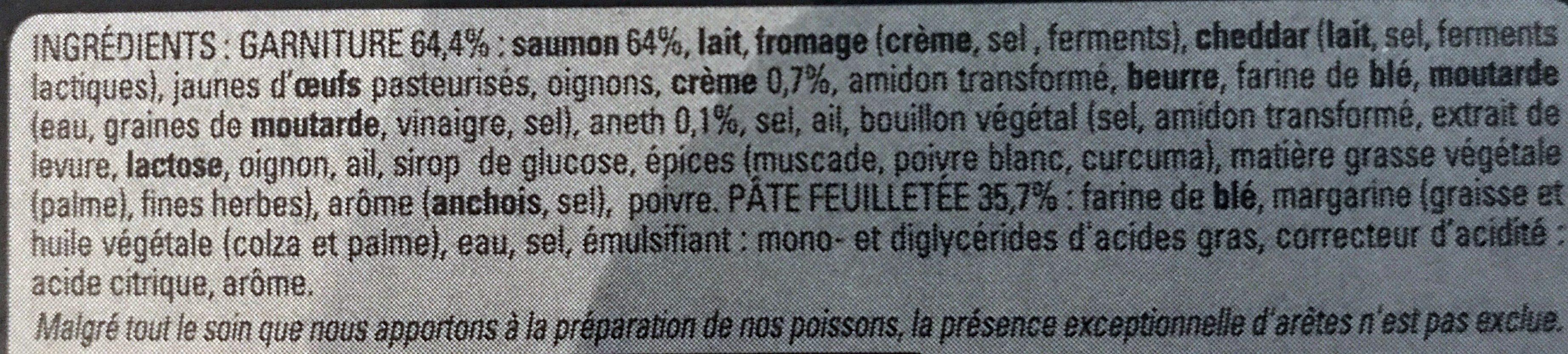 Feuilleté au Saumon - Ingrédients