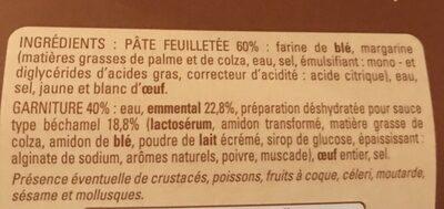 Feuilletes Au Fromage - Ingrédients