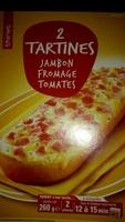 2 Tartines Jambon Fromage Tomates - Produit