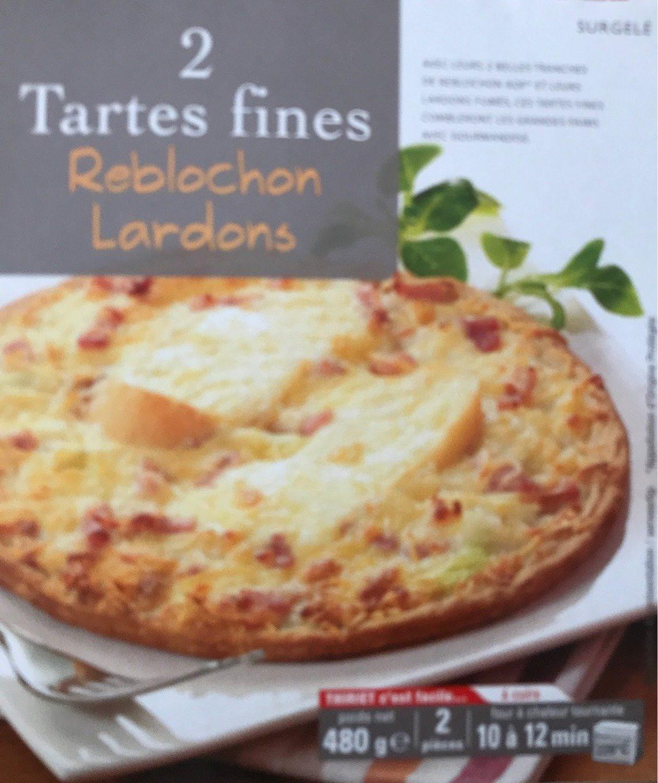Tartes fines reblochon lardons - Produit - fr