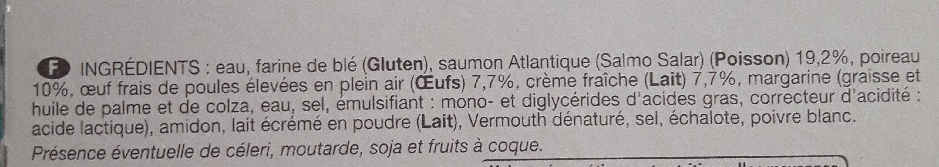 Tarte saumon poireaux - Ingredienti - fr