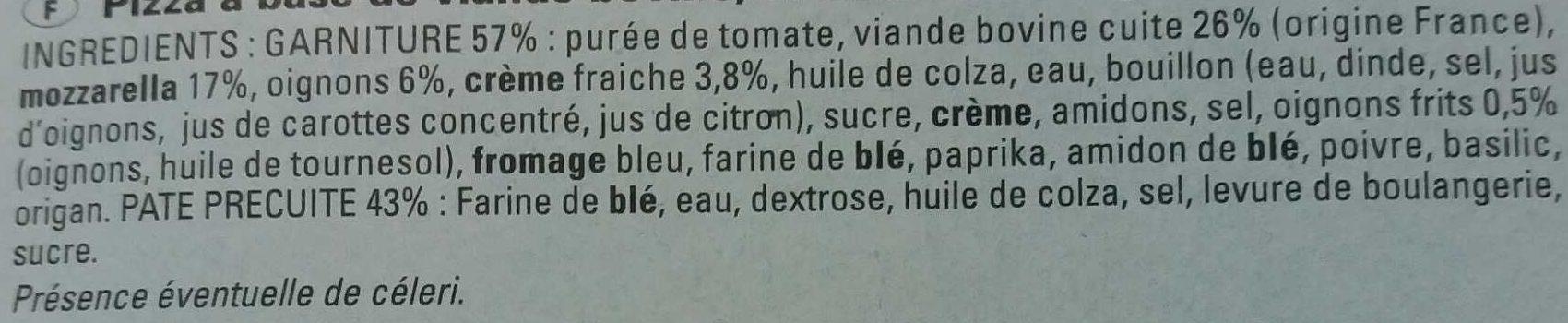 Pizza bolognaise - Ingrédients - fr