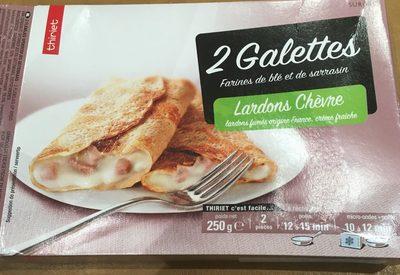 2 galettes lardons chèvre - Product - fr