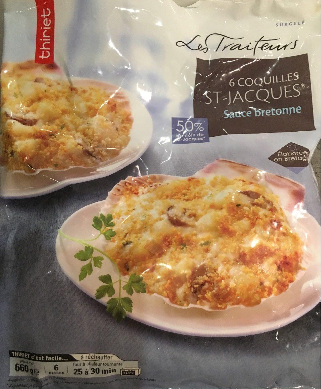 6 Coquilles St-Jacques sauce bretonne - Product - fr
