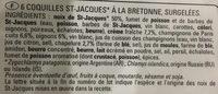 6 Coquilles St-Jacques sauce bretonne - Ingredients - fr