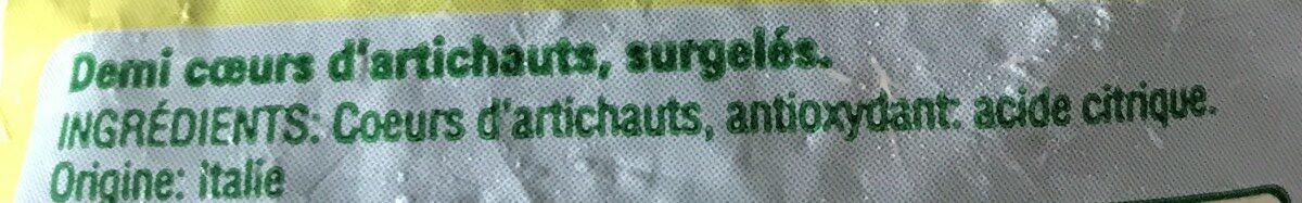 Demi coeurs d'artichauts - Ingrédients - fr