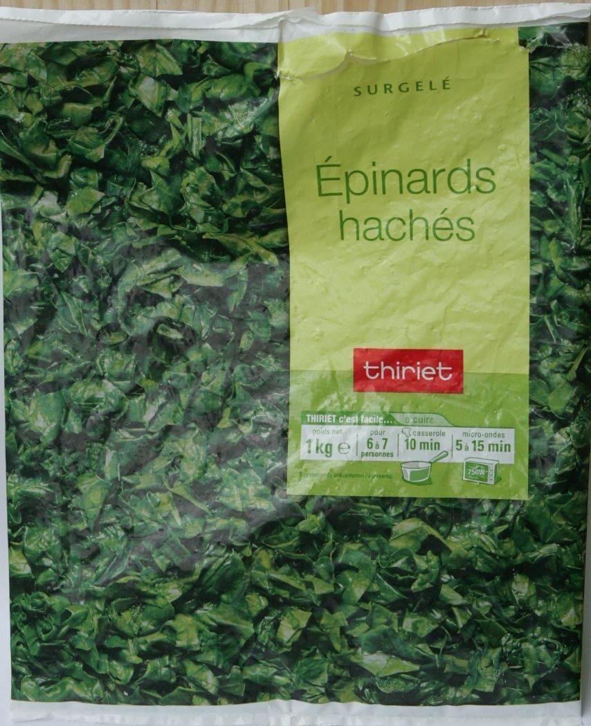 Épinards (Hachés ou de Feuilles, Congelés) - Product - fr
