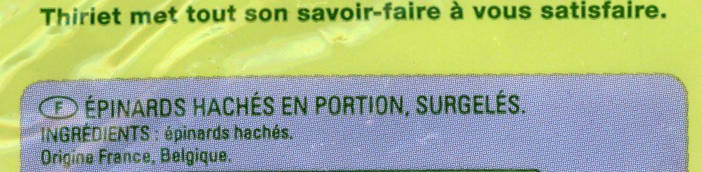 Épinards (Hachés ou de Feuilles, Congelés) - Ingredients - fr