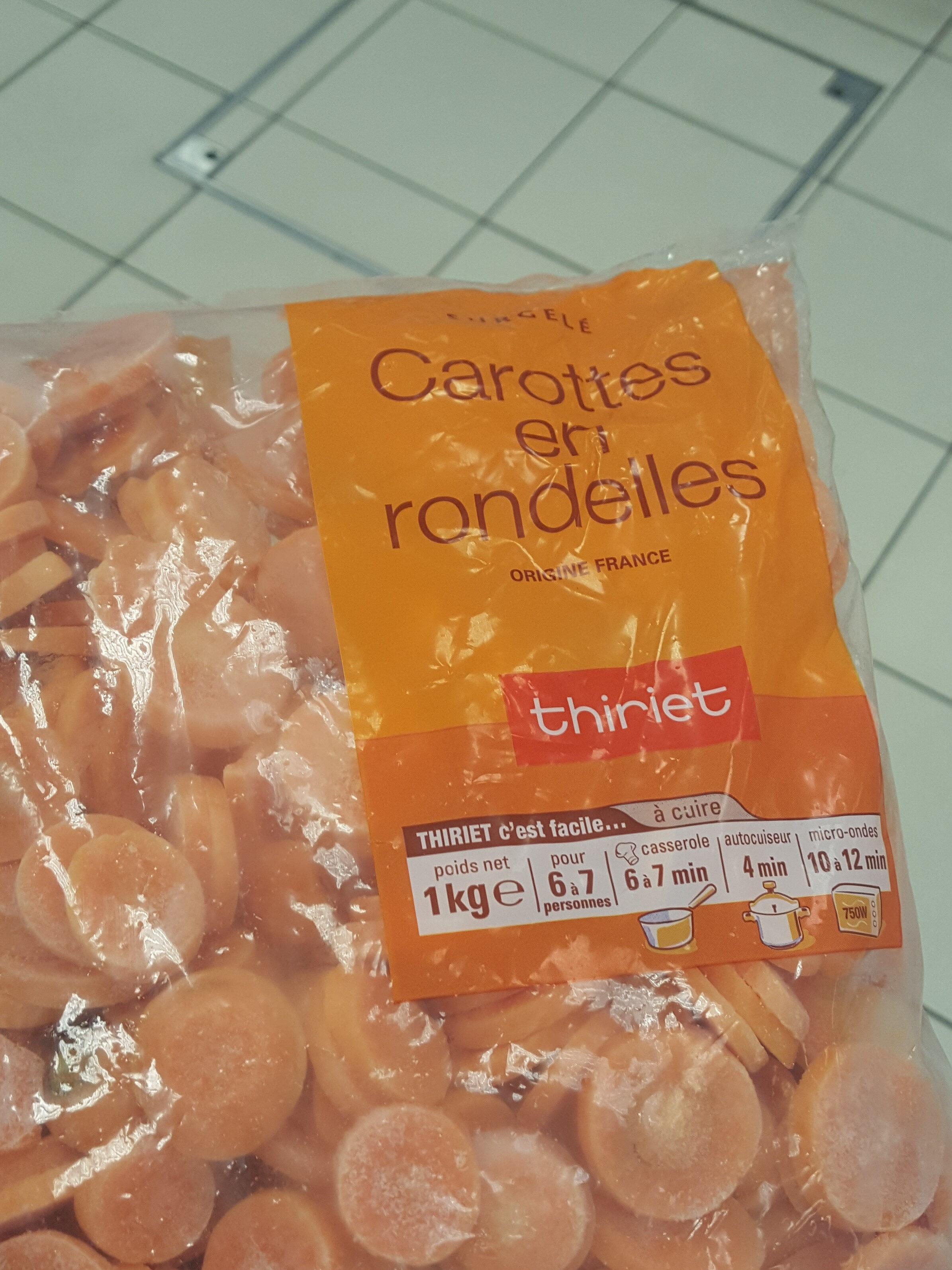 carottes en rondelle - Produit - fr