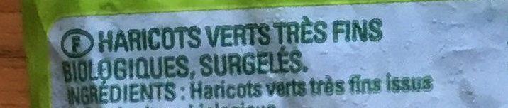 Haricots verts très fins biologiques - Ingrediënten - fr