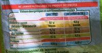Haricots verts très fins biologiques - Voedingswaarden - fr
