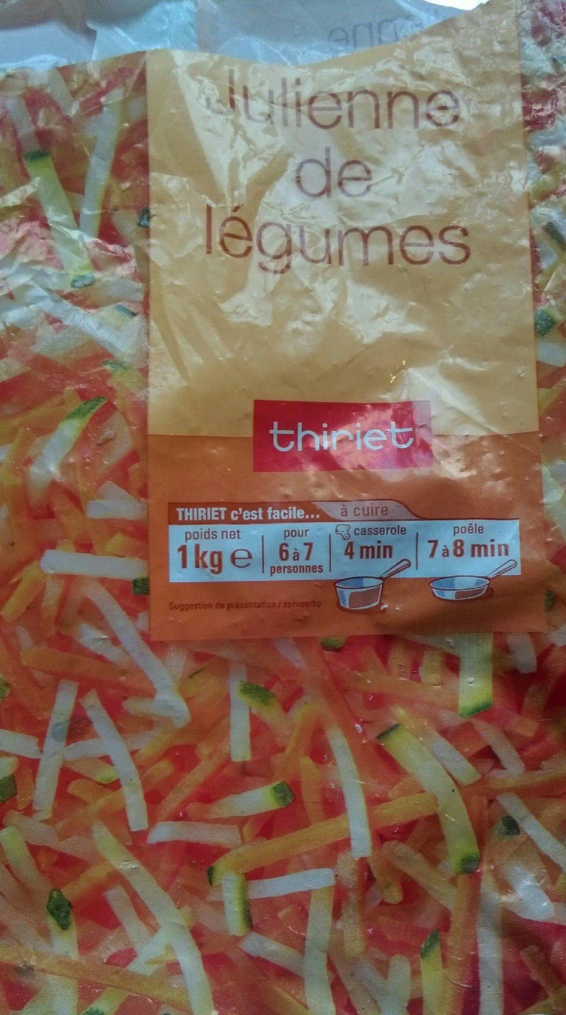 Julienne De Legumes Surgelés, 1Kg - Product - fr