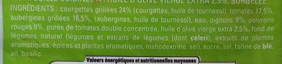 Ratatouille cuisinée à l'huile d'olive vierge extra - Ingrédients