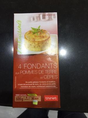 Fondants pommes de terre et cèpes - Product