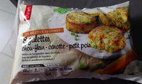 Galettes chou fleur, carotte, petit pois - Produit - fr