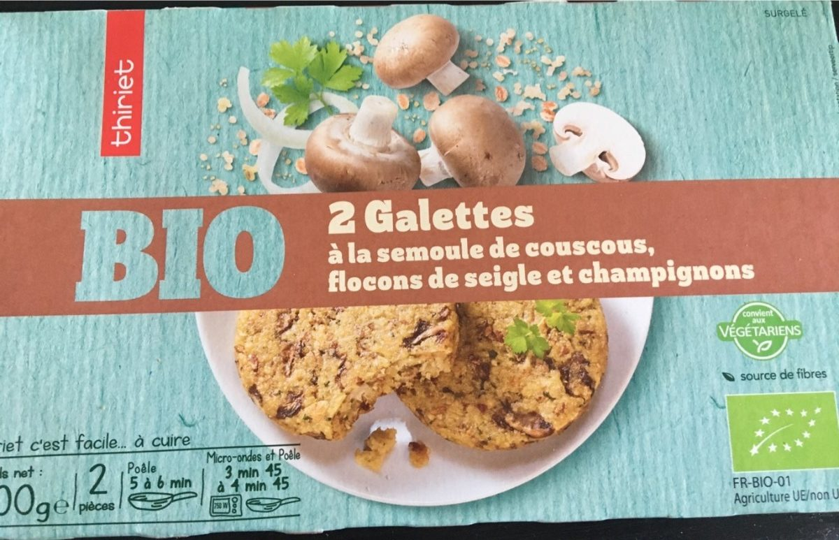 Galettes bio semoule de couscous - Produit - fr