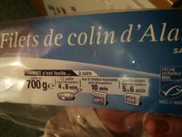 Filet de colin d'Alaska - Product - fr