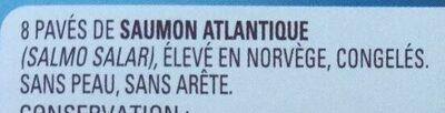 Pavés de saumon Atlantique sans peau, sans arête - Ingrediënten - fr