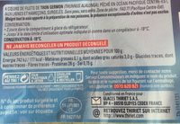 4 coeurs de filets de thon Germon - Nutrition facts