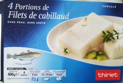 4 portions de Filet de cabillaud - Product - fr
