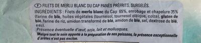 Aiguillettes de merlu blanc du Cap - Ingrédients - fr