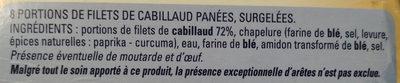 Filet de Cabillaud Pané - Ingredients - fr