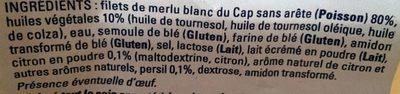 Filets de Merlu Blanc du Cap Meunière Citron-Persil - Ingrédients