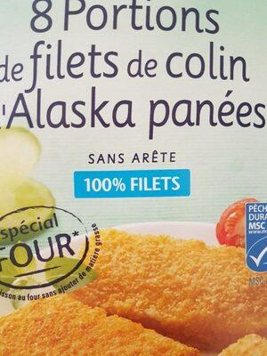 8 portions de filets de colin d'alaska panees - Product - fr