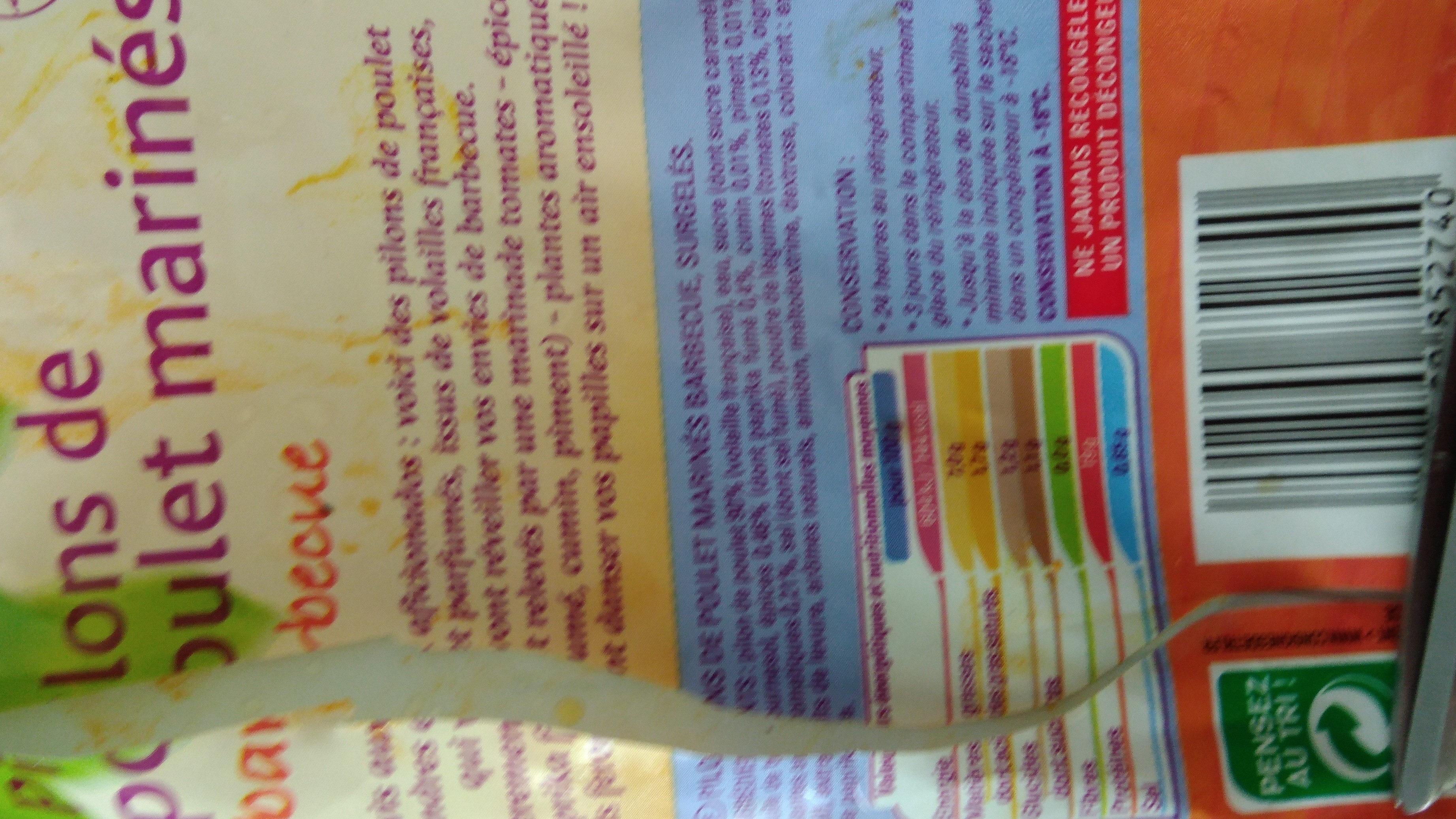 Pilons de poulet marinés - Informations nutritionnelles - fr