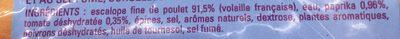 Escalopes de poulet marinées à la saveur bresilienne - Ingrédients