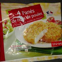 4 panés de filets de poulet - Produit - fr