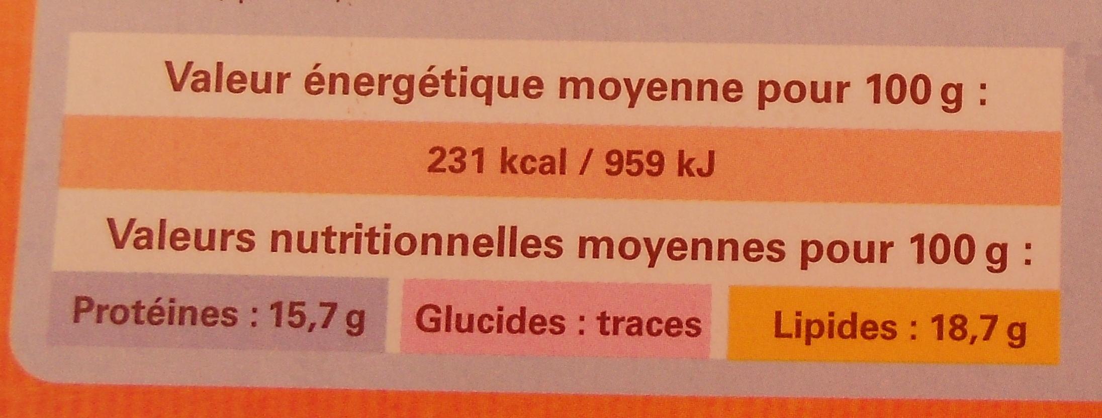 Rôti d'agneau farci, Surgelé - Voedingswaarden - fr