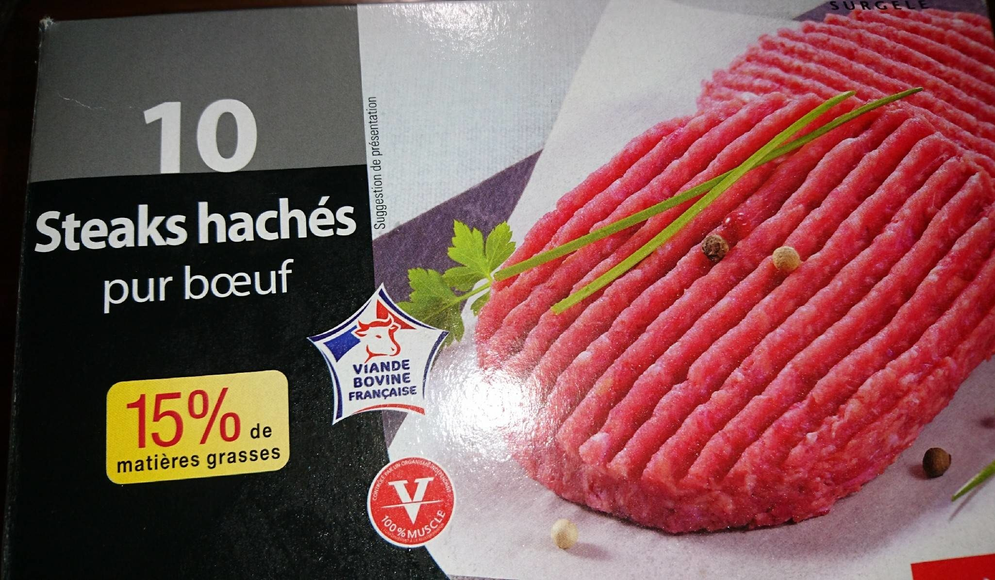 Steaks hachés pur boeuf - Product