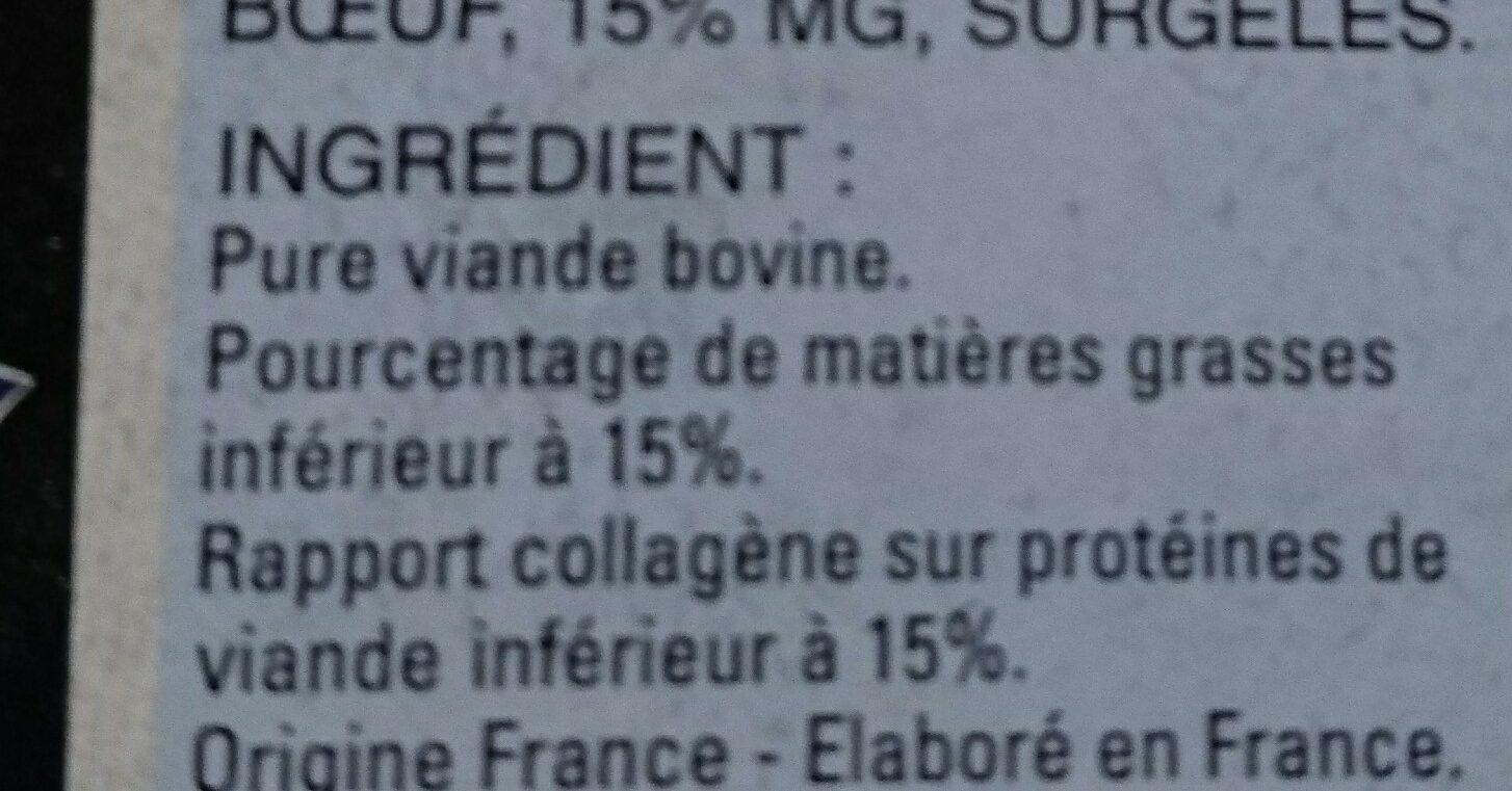Steaks hachés pur boeuf - Ingrediënten